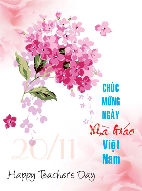 Bộ thiệp chúc mừng ngày nhà giáo Việt Nam 20 - 11 đẹp- Hình 13
