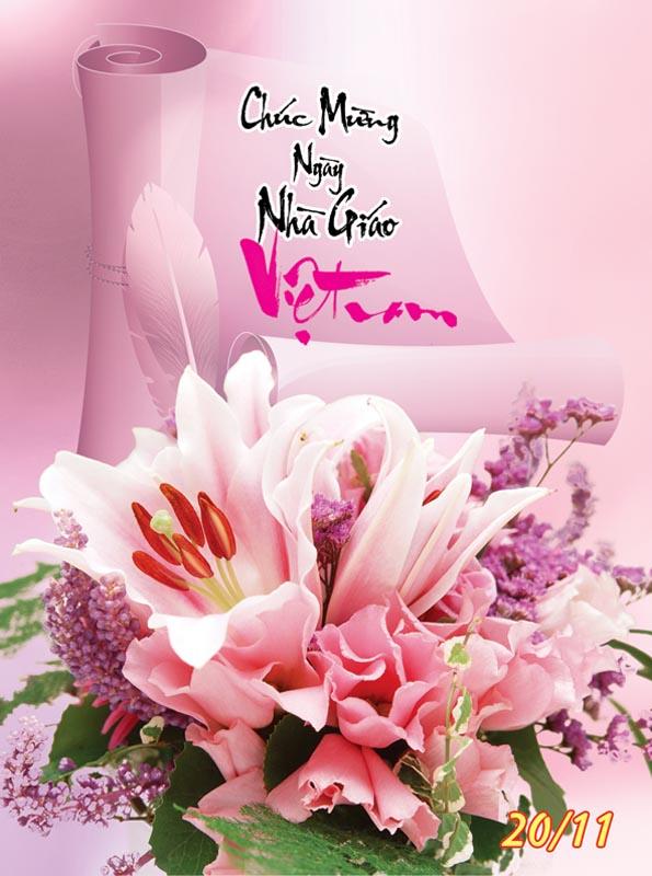 Bộ thiệp chúc mừng ngày nhà giáo Việt Nam 20 - 11 đẹp- Hình 15