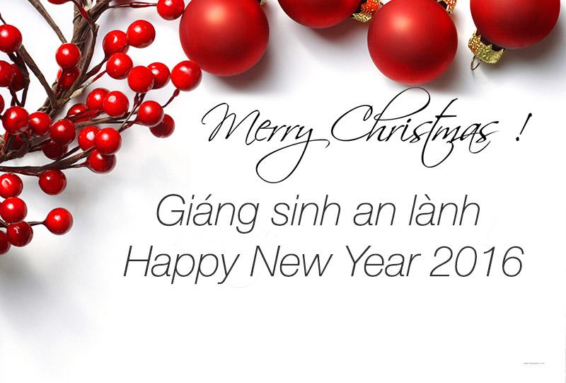 Hướng dẫn làm bức thiệp giáng sinh và năm mới 2016 online