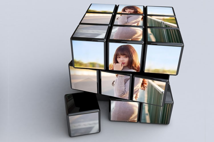 Ghép ảnh vào khối Rubik