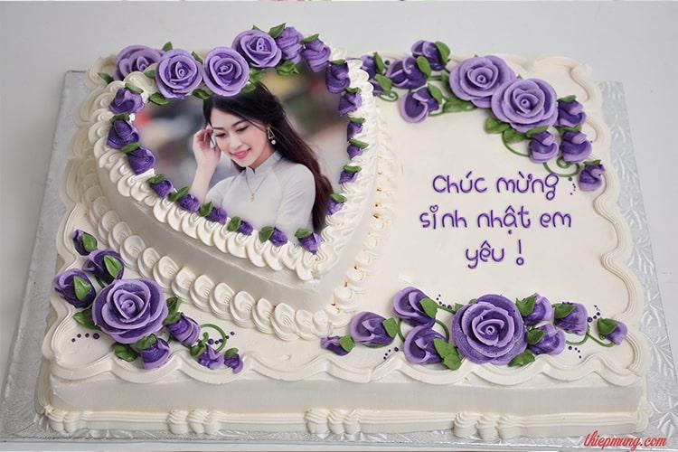 Ghép ảnh và tên lên bánh sinh nhật kỷ niệm