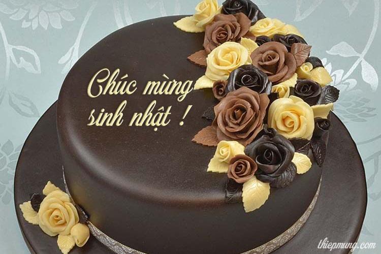 Bánh sinh nhật Socola với lời chúc ý nghĩa dành cho Mẹ