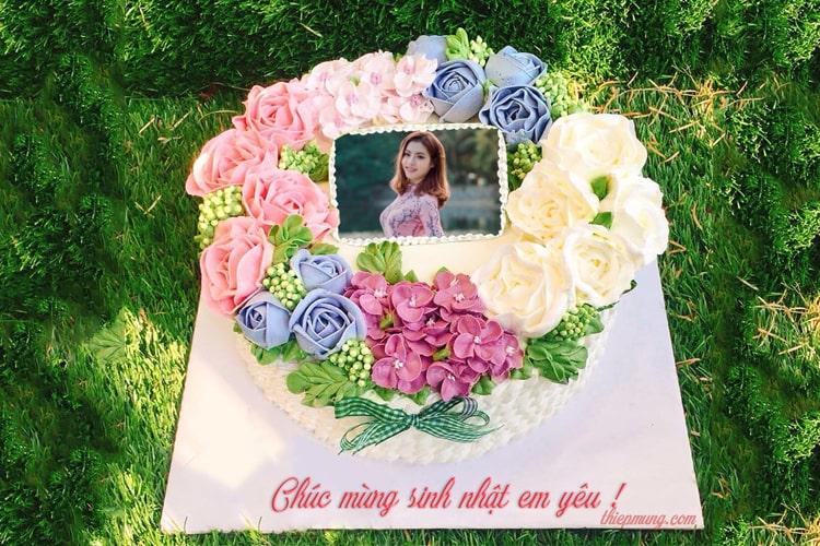 Bánh sinh nhật hoa đẹp với hình ảnh và lời chúc