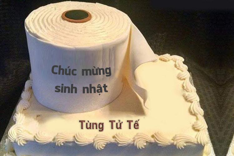 Tạo hình ảnh bánh sinh nhật bựa độc chúc mừng bạn thân