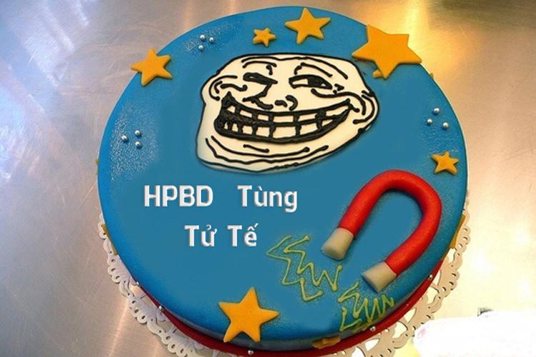 Viết lời chúc lên  bánh sinh nhật bựa độc đáo