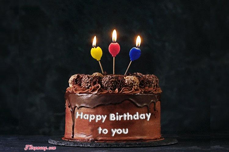 Tạo ảnh bánh sinh nhật động với tên trực tuyến