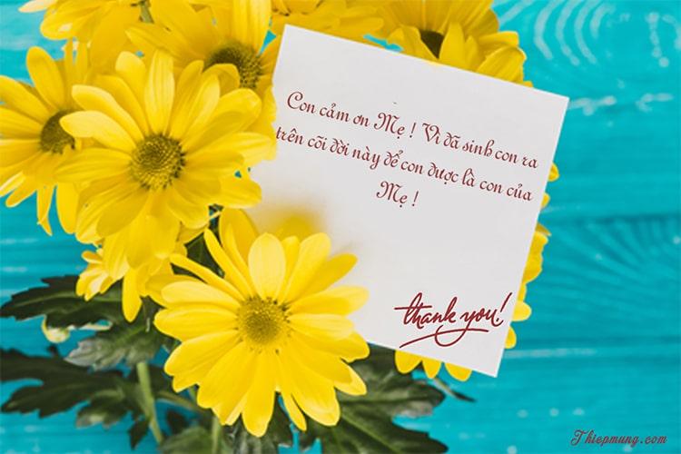 Tạo thiệp cảm ơn online ý nghĩa dành cho mẹ
