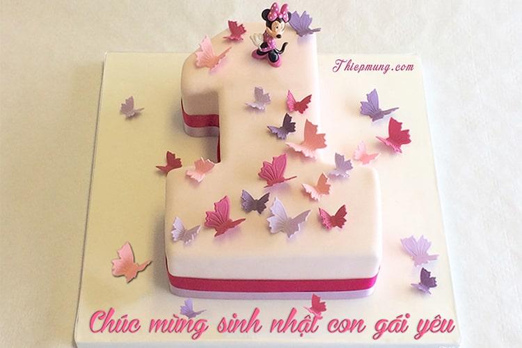 Bánh sinh nhật cho bé gái 1 tuổi đáng yêu nhất