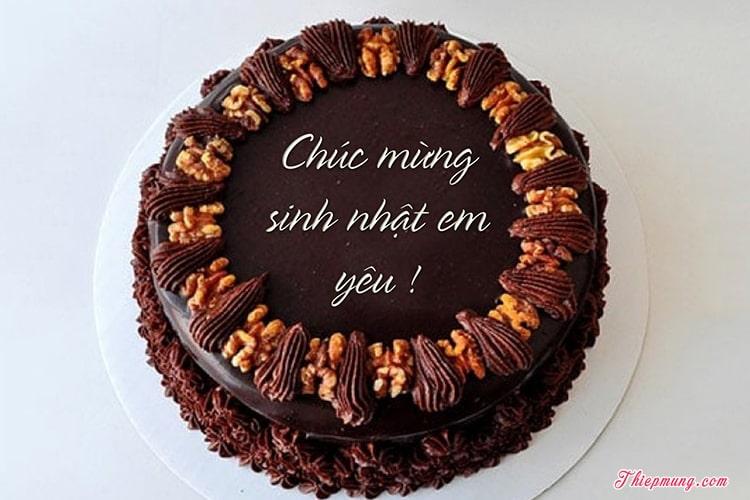 Mẫu bánh sinh nhật socola ngọt ngào cho người yêu