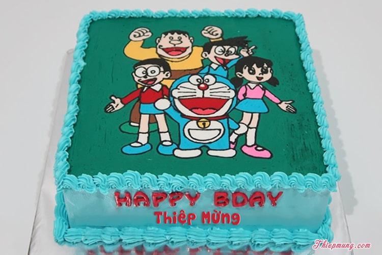 Bánh sinh nhật mèo máy Doraemon vui nhộn cho bé