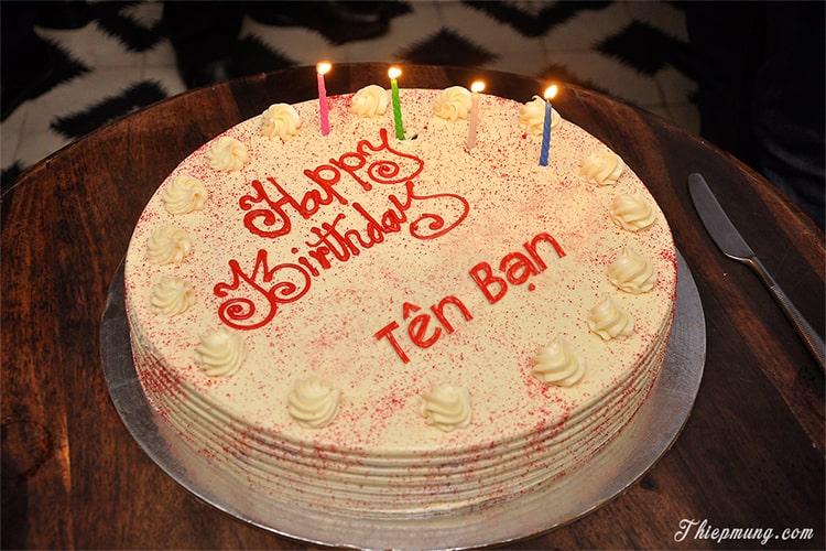 Viết chữ lên bánh sinh nhật Red Velvet lãng mạn nhất