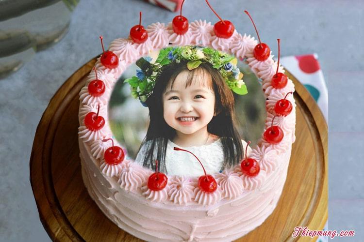 In ảnh lên bánh sinh nhật Cherry trái cây ngọt lịm