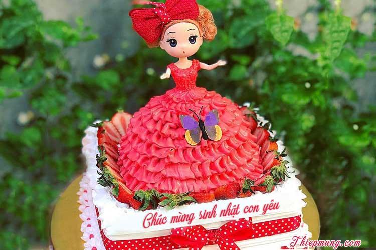 Bánh sinh nhật công chúa cho bé gái