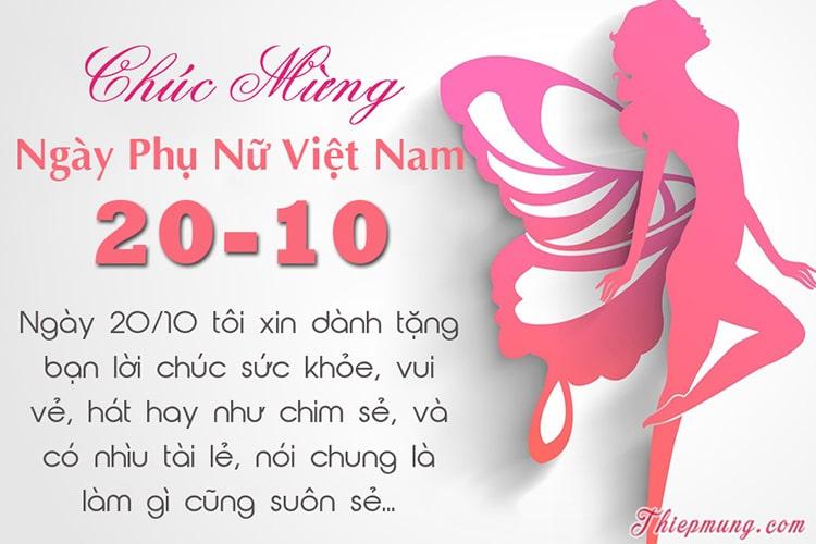 Viết thiệp đẹp mừng ngày Phụ nữ Việt Nam 20-10