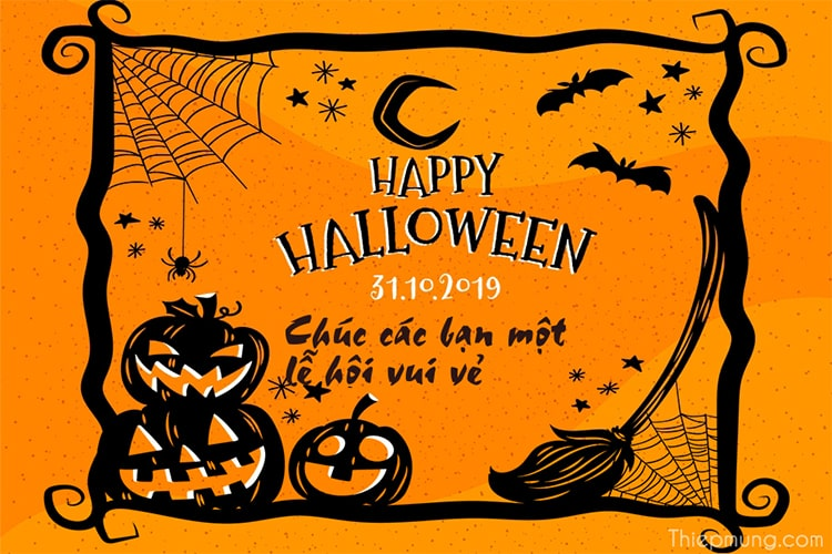 Tạo thiệp chúc mừng lễ hội Halloween
