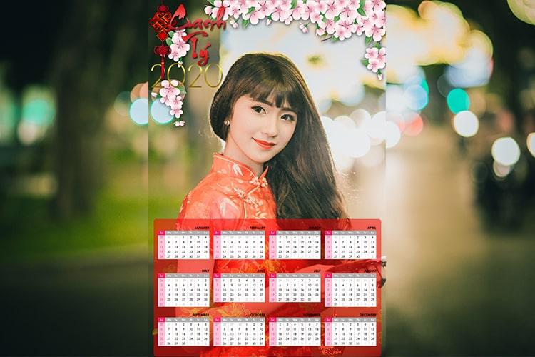 Tạo lịch Tết 2020 online
