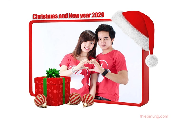 Ghép ảnh noel happy new year 2020
