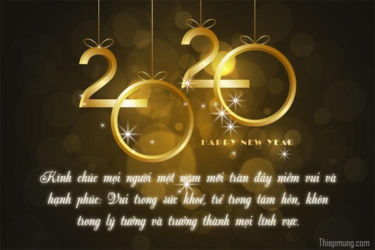 Tạo thiệp ánh sáng chúc mừng năm mới 2020