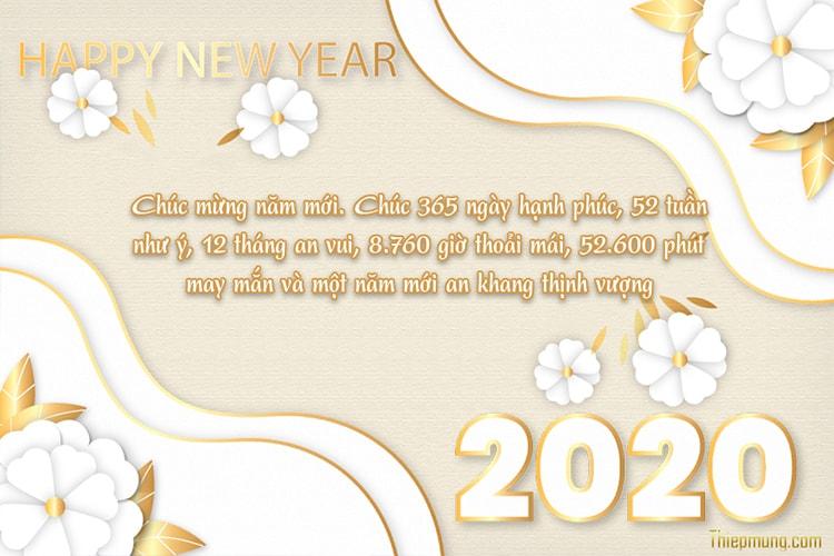 Tạo thiệp chúc mừng năm mới 2020 trực tuyến