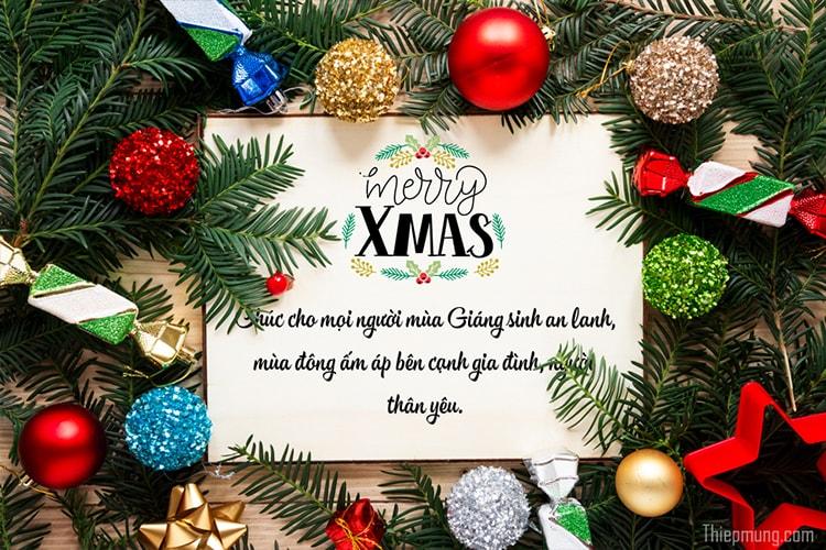 Tạo thiệp chúc mừng giáng sinh an lành