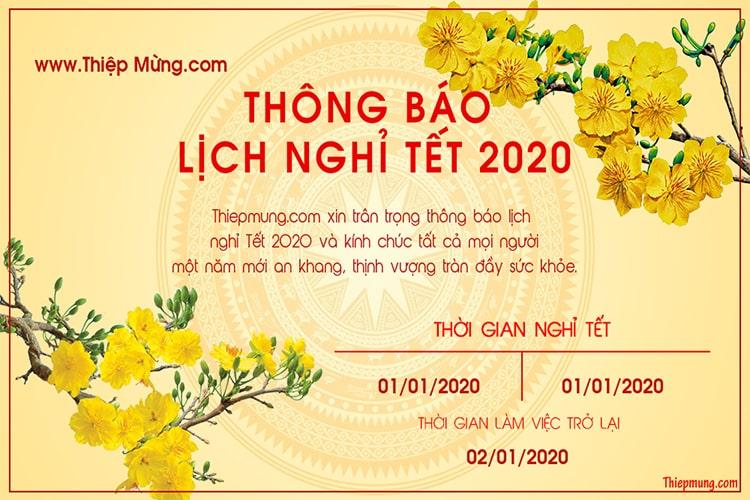 Tạo banner thông báo nghỉ tết 2020 online miễn phí