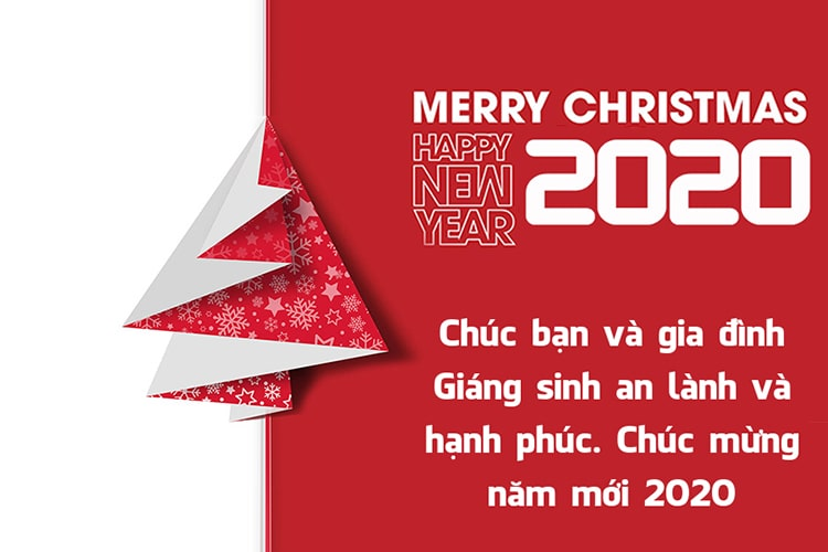 Thiệp chúc mừng giáng sinh và năm mới 2020