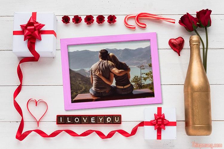 Khung ảnh tình yêu, ghép ảnh tình yêu lãng mạn