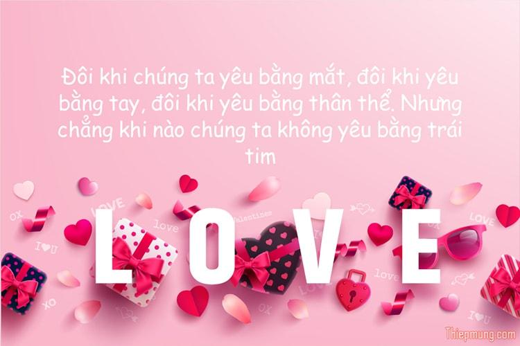 Tạo thiệp tình yêu chữ LOVE