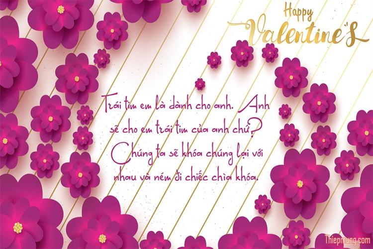 Tạo thiệp hoa Valentine trực tuyến