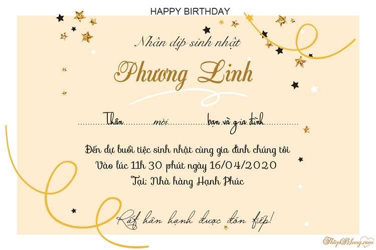 Tạo thiệp mời sinh nhật cho người lớn