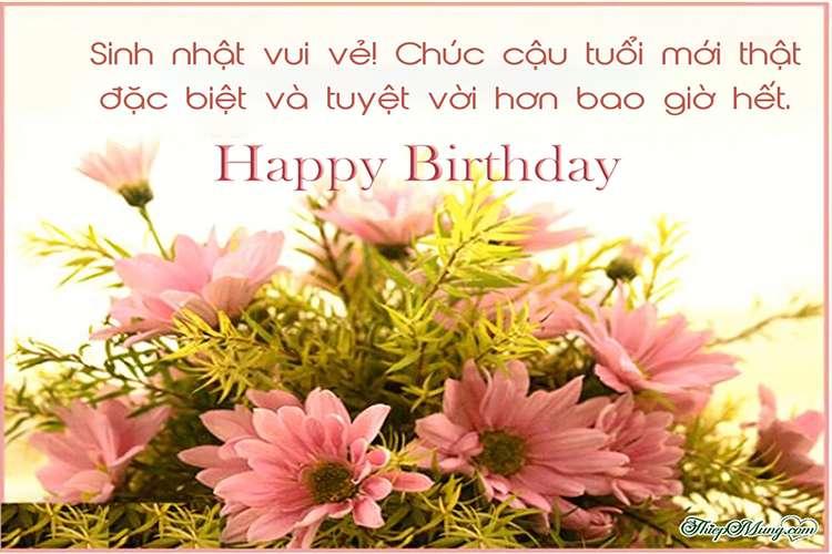 Thiệp sinh nhật với hoa tươi ý nghĩa