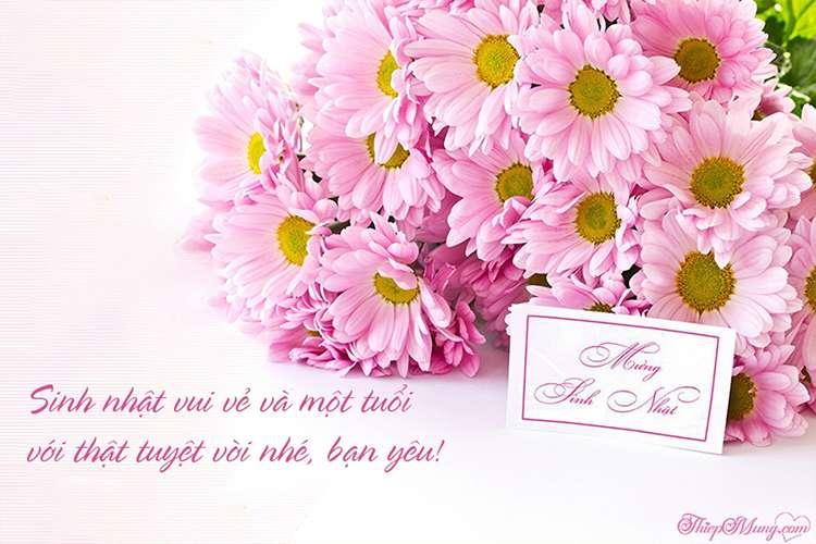 Thiệp chúc mừng sinh nhật hoa ý nghĩa
