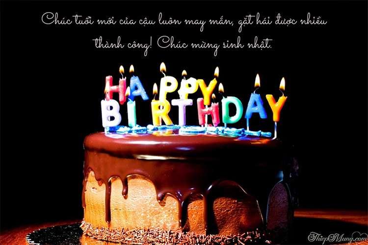 Thiệp chúc mừng sinh nhật ý nghĩa với nến