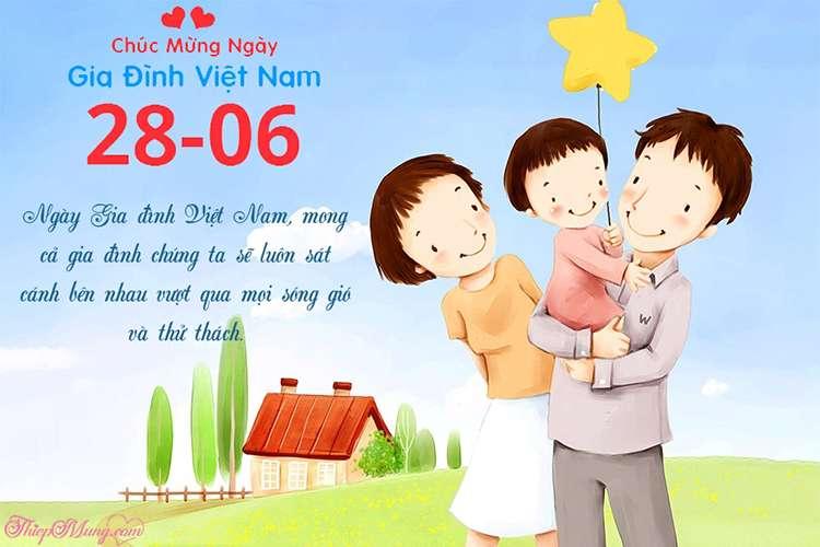 Viết lời chúc lên thiệp ngày gia đình Việt Nam