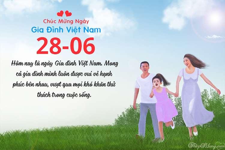 Thiệp đẹp chúc mừng ngày Gia đình Việt Nam 28-06