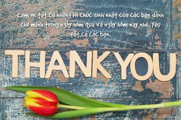 Thiệp cảm ơn sau sinh nhật mẫu hoa ý nghĩa