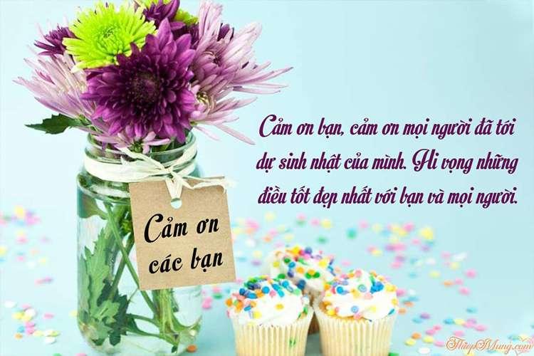 Cảm ơn sinh nhật - Thiệp hoa cảm ơn sinh nhật miễn phí