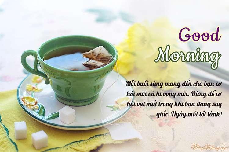 Thiệp Good Morning chúc ngày mới tốt lành
