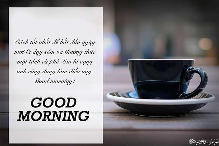 Thiệp chúc buổi sáng, chào ngày mới cho bạn bè, đồng nghiệp, sếp