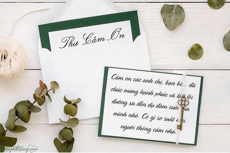 Thiết kế thiệp cảm ơn sau đám cưới floral trang nhã