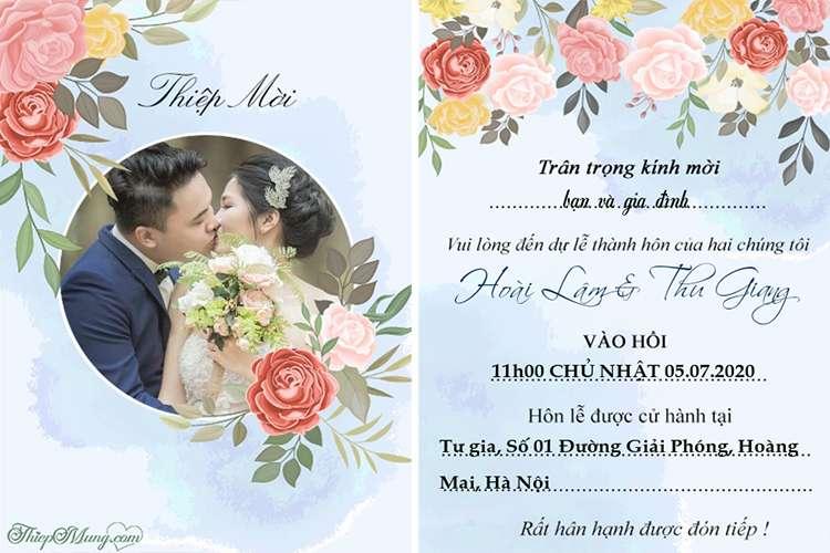 Tạo thiệp cưới, lời mời đám cưới đẹp với ảnh