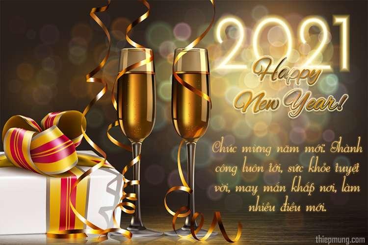 Thiệp giao thừa chúc mừng năm mới 2021