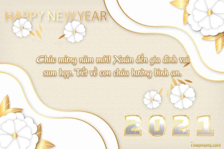 Tạo thiệp chúc mừng năm mới 2021 trực tuyến