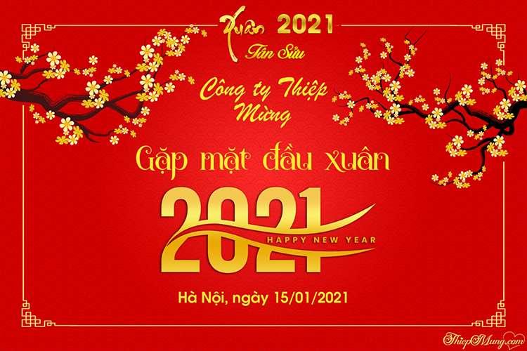 Tạo banner sự kiện Tết Tân Sửu 2021