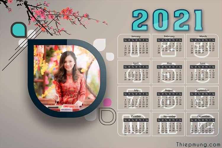 Tạo lịch năm mới 2021 trực tuyến