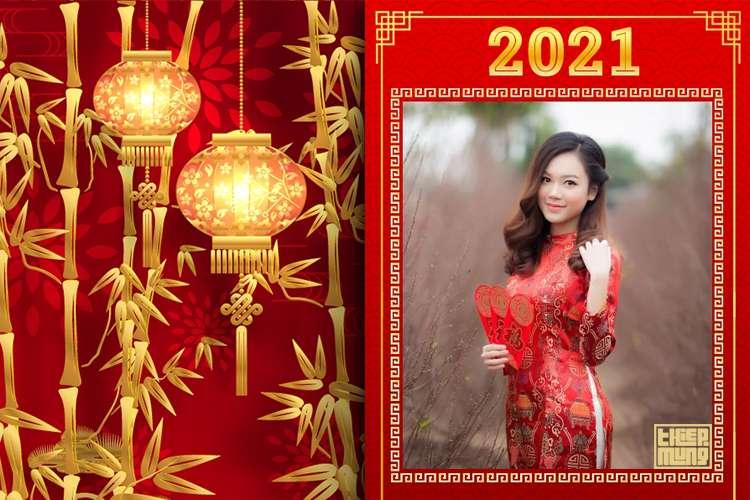 Ghép ảnh tết, khung ảnh tết nguyên đán 2021