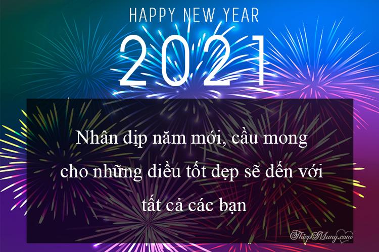 Thiệp pháo hoa chúc mừng năm mới 2021
