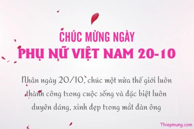 Tạo video chúc mừng ngày phụ nữ Việt Nam 20-10