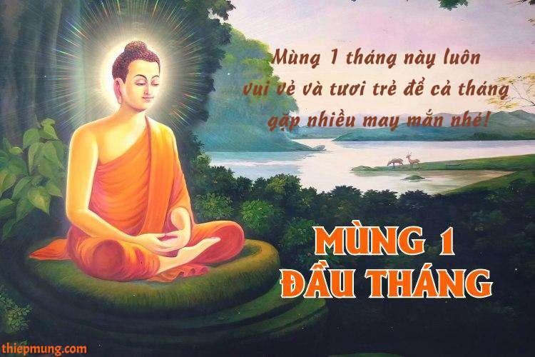 Tạo thiệp video Phật chúc đầu tháng, mùng 1 may mắn